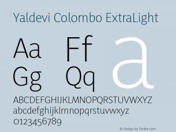 YaldeviColombo ExtraLight Version 1.040图片样张