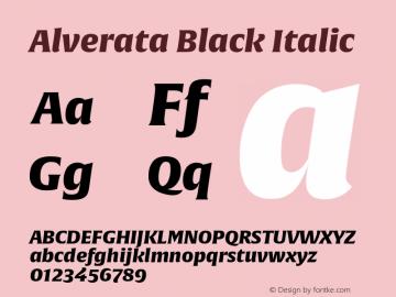 AlverataBl-Italic Version 1.001图片样张