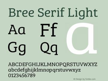 Bree Serif Light Version 1.001图片样张