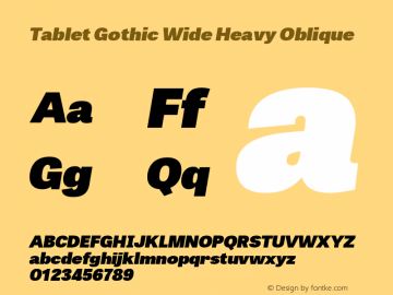 TabletGothicWideHv-Italic 1.000图片样张