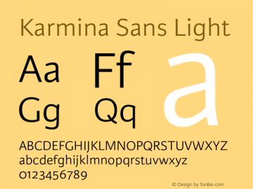 KarminaSans-Light Version 001.000图片样张