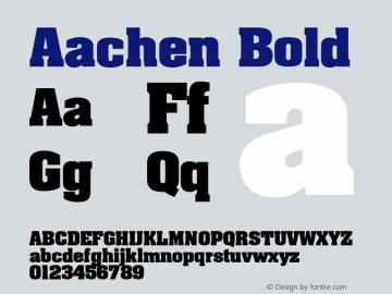 Aachen Bold 图片样张