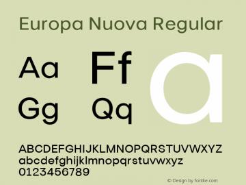 Europa Nuova Font,Europa Nuova Regular Font,Europa-Nuova