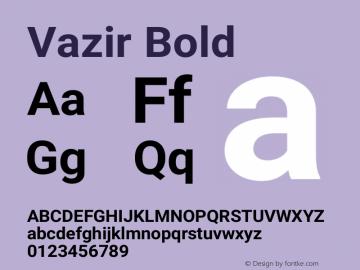 Vazir Bold Version 14.0.0图片样张