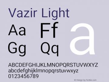Vazir Light Version 14.0.0图片样张
