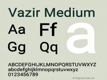 Vazir Medium Version 14.0.0图片样张