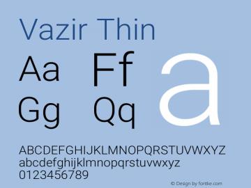 Vazir Thin Version 14.0.0图片样张