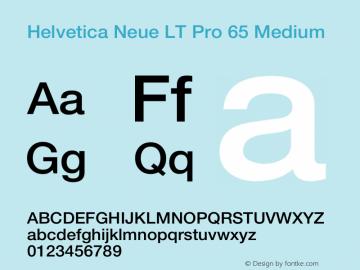 Helvetica Neue LT Pro 65 Medium Version 1.30 September 22, 2015图片样张