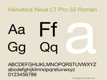 Helvetica Neue LT Pro 55 Roman Version 1.30 September 22, 2015图片样张