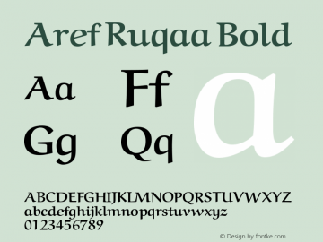 Aref Ruqaa Bold Version 0.9图片样张