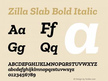 Zilla Slab Bold Italic Version 1.1; 2017; ttfautohint (v1.6)图片样张