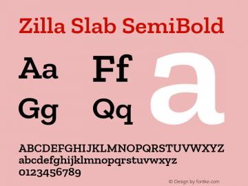 Zilla Slab SemiBold Version 1.1; 2017; ttfautohint (v1.6)图片样张