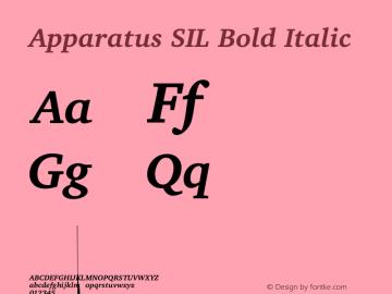 Apparatus SIL Bold Italic Version 1.0图片样张
