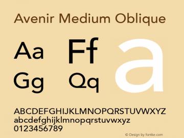 Avenir 65 Medium Oblique Version 001.001图片样张