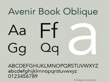 Avenir 45 Book Oblique Version 001.001图片样张