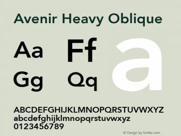 Avenir 85 Heavy Oblique Version 001.001图片样张