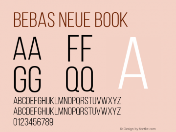 Bebas Neue Book Regular Version 001.003图片样张