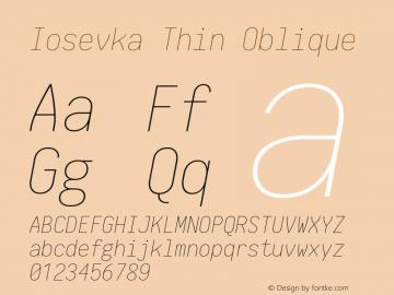 Iosevka Thin Oblique 1.13.3; ttfautohint (v1.6)图片样张