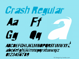 Crash Regular 02.12.99   -   8:33am Font Sample
