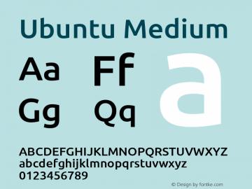 Ubuntu Light Bold Version 0.80 Font Sample