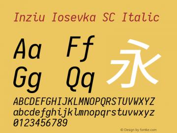 Inziu Iosevka SC Italic Version 1.13.3图片样张