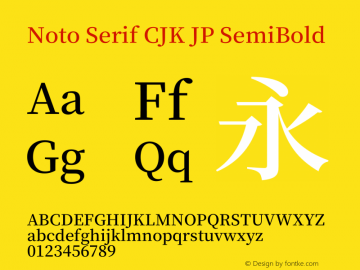 Noto Serif Cjk