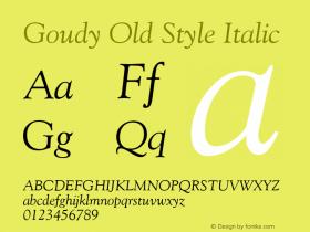 Goudy Old Style Italic Version 1.3 (ElseWare)图片样张