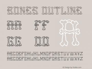 Bones Outline Version 1.002;Fontself Maker 2.0.4图片样张