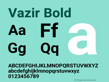 Vazir Bold Version 15.0.0图片样张