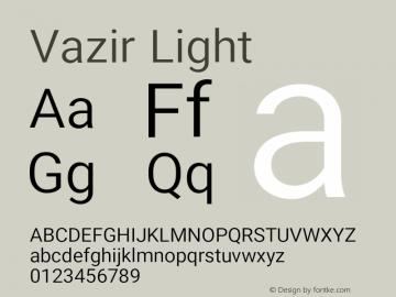 Vazir Light Version 15.0.0图片样张