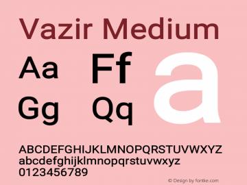 Vazir Medium Version 15.0.0图片样张