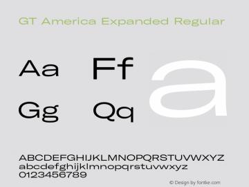 GT America Expanded Regular Version 5.001;PS 005.001;hotconv 1.0.88;makeotf.lib2.5.64775图片样张