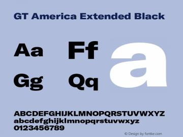 GT America Extended Black Version 5.001;PS 005.001;hotconv 1.0.88;makeotf.lib2.5.64775图片样张