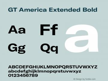 GT America Extended Bold Version 5.001;PS 005.001;hotconv 1.0.88;makeotf.lib2.5.64775图片样张