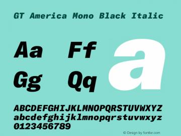 GT America Mono Black Italic Version 2.001;PS 002.001;hotconv 1.0.88;makeotf.lib2.5.64775图片样张