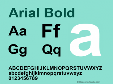 Arial Bold Version 5.00图片样张