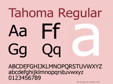 Tahoma Version 5.00图片样张