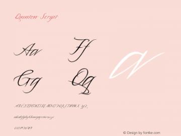 Quinton-Script Version 1.000;PS 001.000;hotconv 1.0.88;makeotf.lib2.5.64775 Font Sample