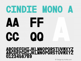 Cindie Mono A Version 1.000;PS 002.000;hotconv 1.0.70;makeotf.lib2.5.58329图片样张