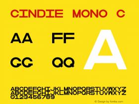 Cindie Mono C Version 1.000;PS 002.000;hotconv 1.0.70;makeotf.lib2.5.58329图片样张