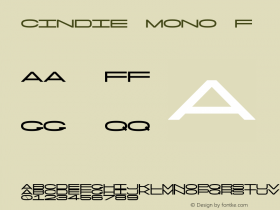 Cindie Mono F Version 1.000;PS 002.000;hotconv 1.0.70;makeotf.lib2.5.58329图片样张
