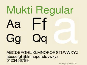 Mukti Version 1.99 January 26,2006 Font Sample