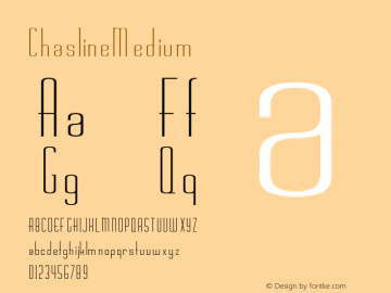 Chasline Medium 001.001 Font Sample