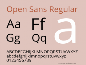Open Sans Regular Version 1.10图片样张
