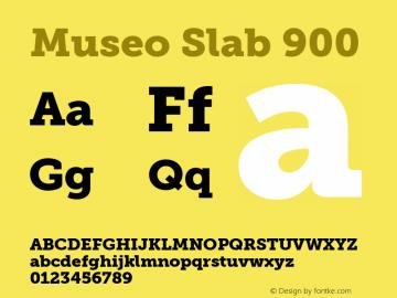 Museo Slab 900 Regular Version 1.000图片样张