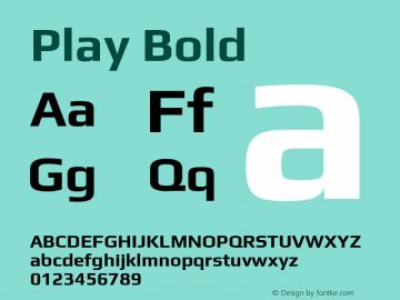Play Bold Version 2.101; ttfautohint (v1.6)图片样张