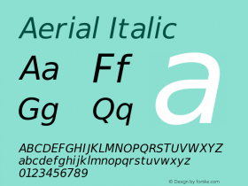 Aerial Italic Release 2.02图片样张