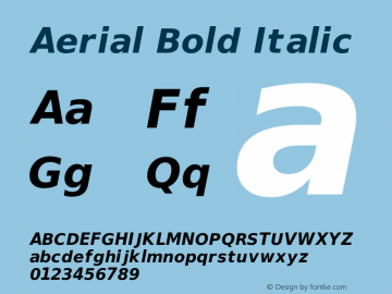 Aerial Bold Italic Release 2.02图片样张