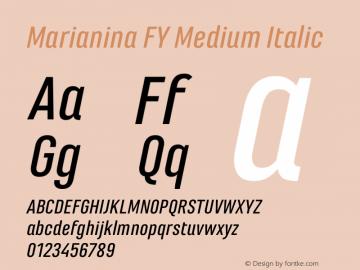 Marianina FY Medium Italic Version 1.000图片样张