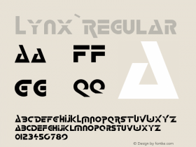 Lynx Regular 001.001 Font Sample